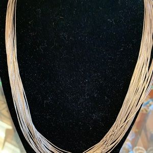 Liquid Silver necklace Sterling Silver